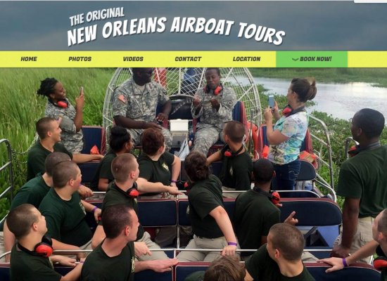 New Orleans Airboat Tours Revamped Website